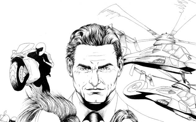 Dead Exit cover inked Warren face 1